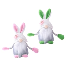Home-Decoration Ornament Gnome Tomte Spring Gifts Elf Plush Holiday Swedish Easter Rabbit