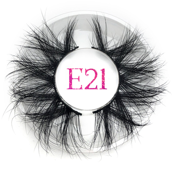 Fluffy False Eyelashes thick Strip Extra Long 3D Mink Lashes Makeup Dramatic Wholesale 25mm Lash