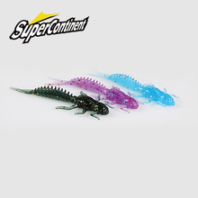 2019New Reach Soft Lures  Soft Plastic Lures Larva  6cm/5cm Floating Freshwater Swimbaits Silicone Soft Bait Worm For Fishing