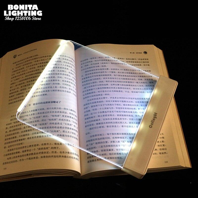 Ночной Светильник СВЕТОДИОДНЫЙ панельный светильник лампа для чтения в постели защита глаз перезаряжаемые и Портативный Настольная книга ...