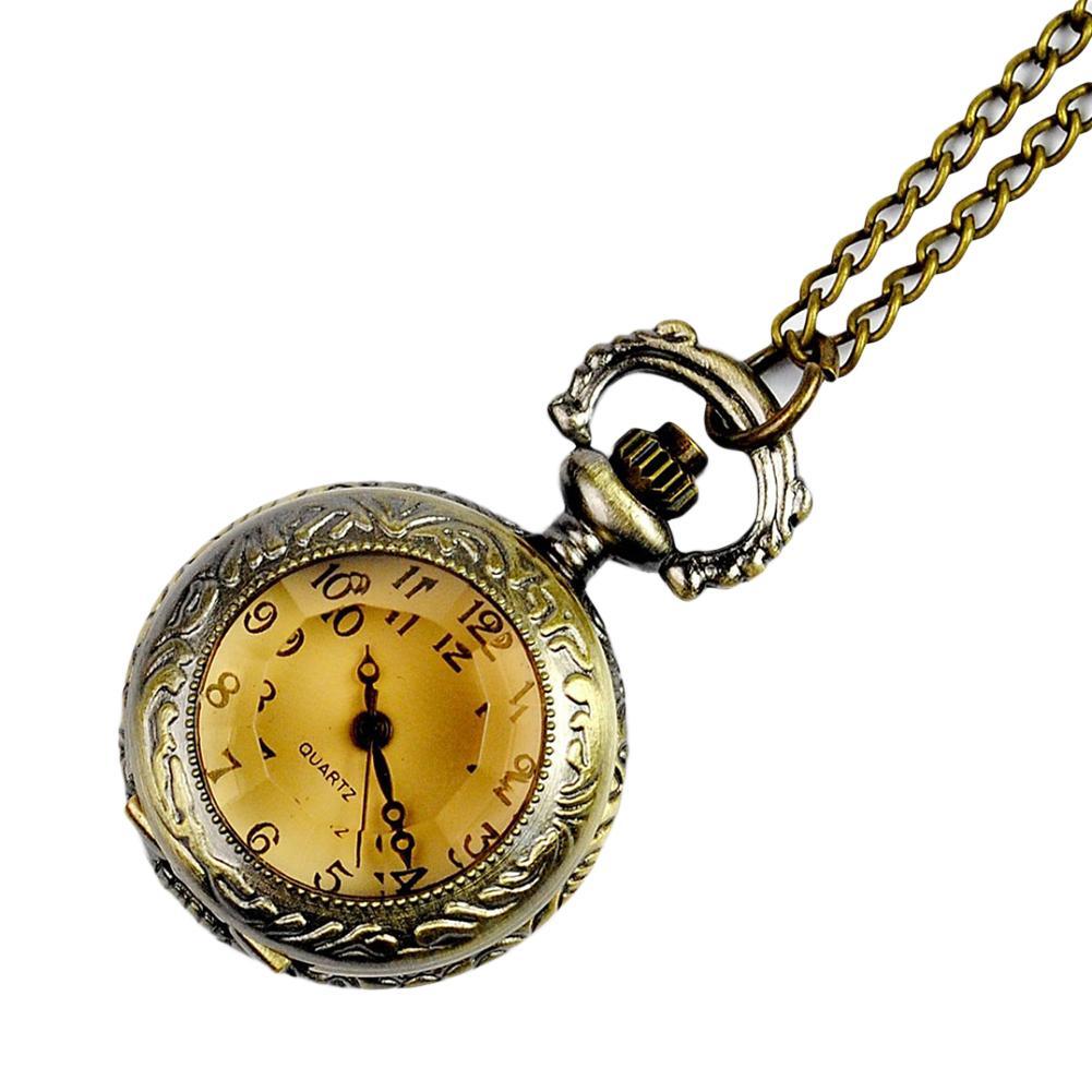 Vintage Nurse Watches Engraved Arabic Number Quartz Pocket Watch With Chain Unisex Nurse Watch Birthday Gift  Clock