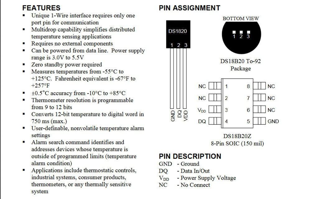 DS1820 посылка из нержавеющей стали, водонепроницаемый датчик температуры DS18b20, датчик температуры 18B20 для arduino