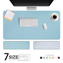 Tapis de bureau grand format, pour clavier et souris, double face, étanche, en cuir synthétique, pour joueur Dota, accessoire pour ordinateur