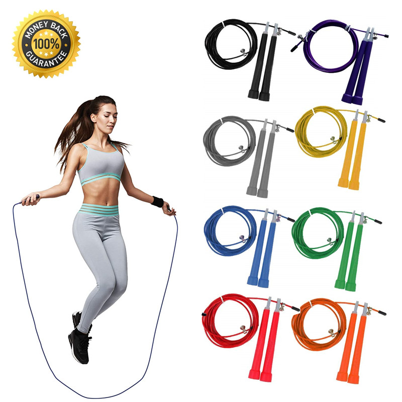 Profession Adjustable Fast Speed  Skipping Rope Crossfit Workout Training Jumping Rope Boxing Fitness Equipment 3M Steel Wire