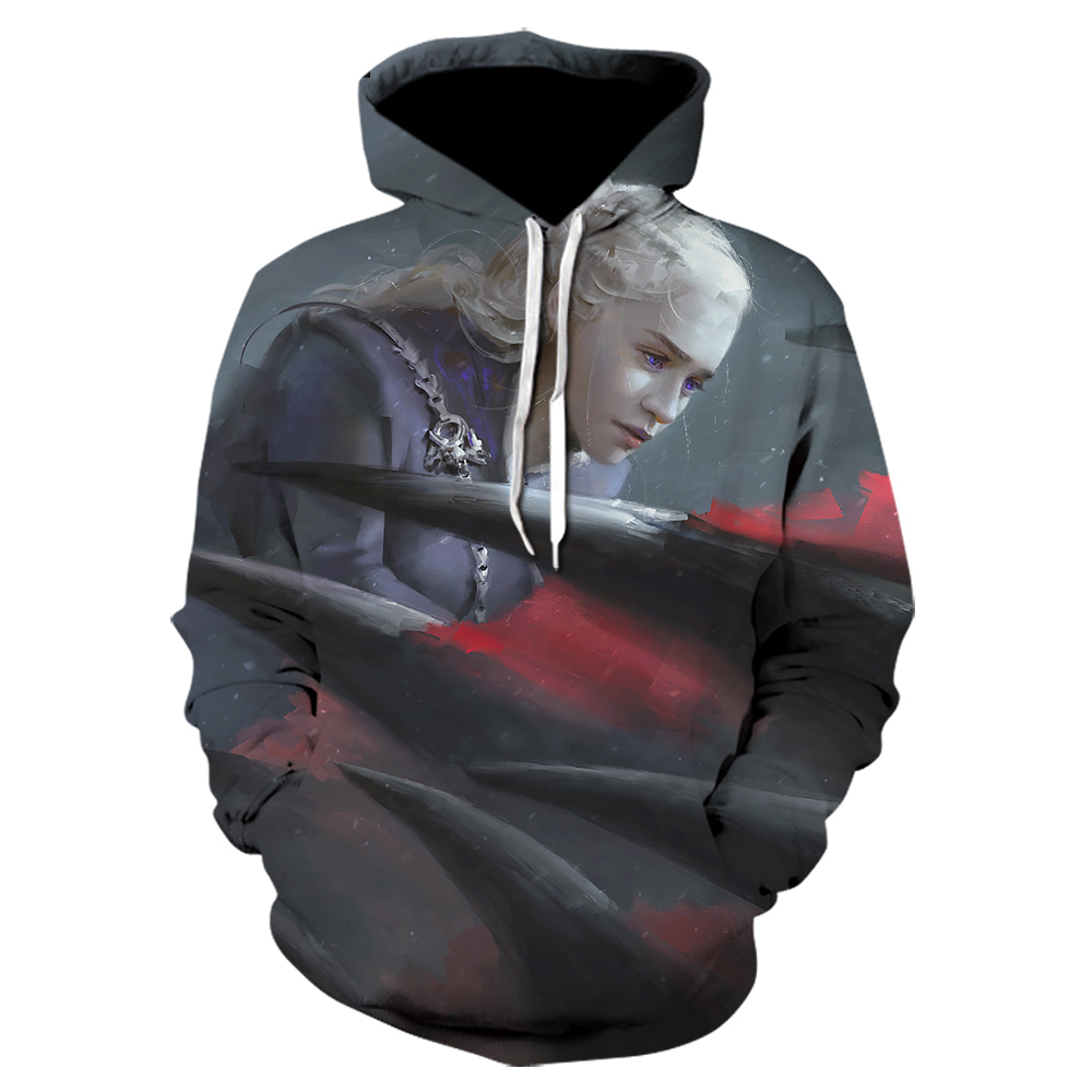Game of thrones harajuku 3d men's hoodie Spring and autumn thin style hoodie pop Hot seeling Funny casual streetwear hoodies et image