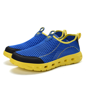 Men Summer Quick-dry Breathable Sneakers Mesh Light-weight Slip-on Shoes Hiking Swimming Tennis Slippers Modern Fashion for Male(China)