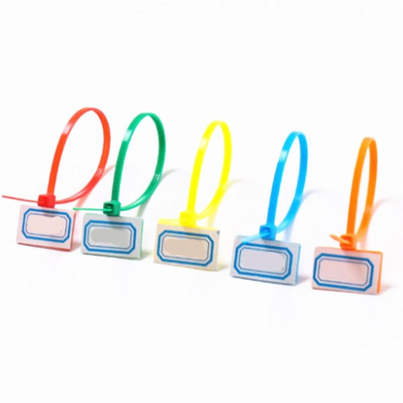 250 pçs/saco Cor Misturada Fácil marcar etiquetas do tag 4*150mm Nylon Cable Ties loop Laços de Plástico marcadores Cabo tag auto-bloqueio Laços Zip