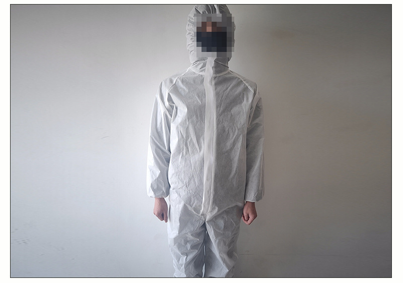 Hooded Coverall Protective Clothing Security And Protection SMS Nonwoven Fabric Coverall Clean Room Dustproof Jumpsuit Garment