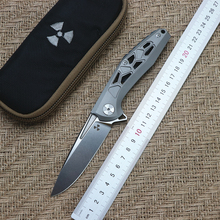 JK3214 flip folding knife ball bearing D2 blade TC4 titanium handle outdoor camping multi-purpose hunting EDC tool стоимость