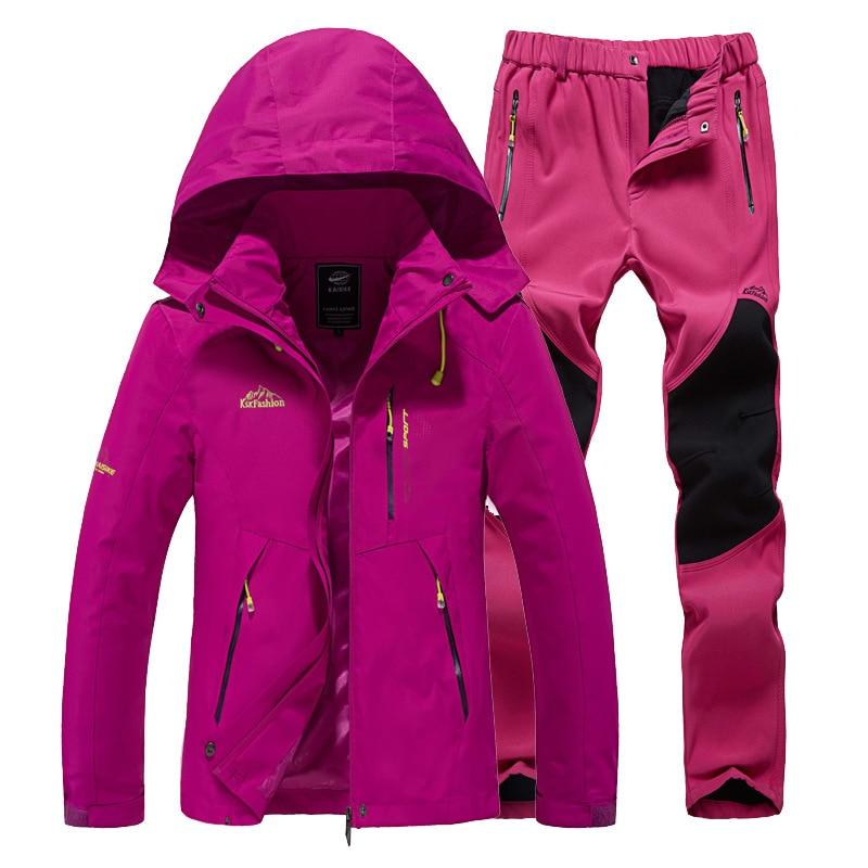 Image 5 - Ski Suit Women Warm Waterproof Skiing Suits Set Ladies Outdoor  Sport Winter Coats Snowboard Snow Jackets and Pants Lawele  HoolauSnowboarding Sets
