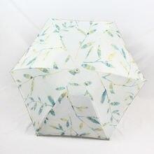 Компактный УФ зонт с вышивкой в виде листьев для путешествий