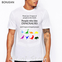 people who like dinosaur letter print t-shirt men funny t shirts camisetas hombre graphic tee shirt homme tumblr clothes tops цена и фото