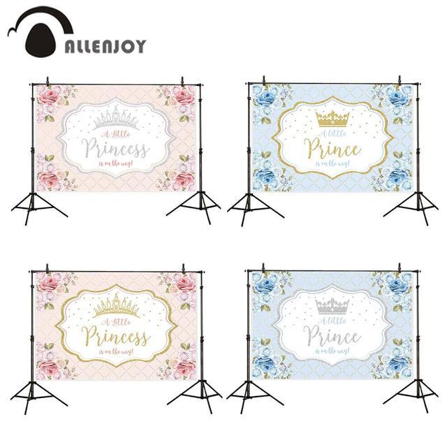 Allenjoy cemaat zemin küçük prenses prens çiçekler pembe 1st doğum günü bebek duş Photophone arka plan Photozone