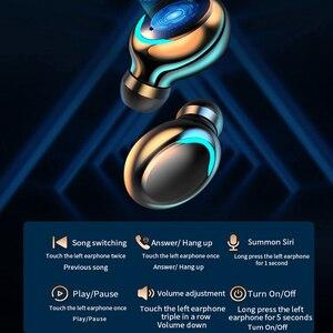 Image 5 - Oringinal F9 słuchawki Bluetooth 5.0 TWS zestaw słuchawkowy z czytnikiem linii papilarnych radio HiFI słuchawki douszne wodoodporne słuchawki bezprzewodowe