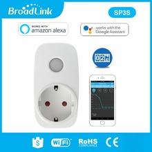 Broadlink sp3s ue/contros inteligente sem fio wifi tomada de alimentação 16a 3500w com medidor de energia ios android controle remoto