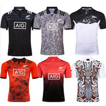All Blacks Rugby New Zealand Jerseys 2018 2019 afl Rugby Shirt POLO Shirt Maillot Camiseta Maglia Tops Men's shirt S-5X
