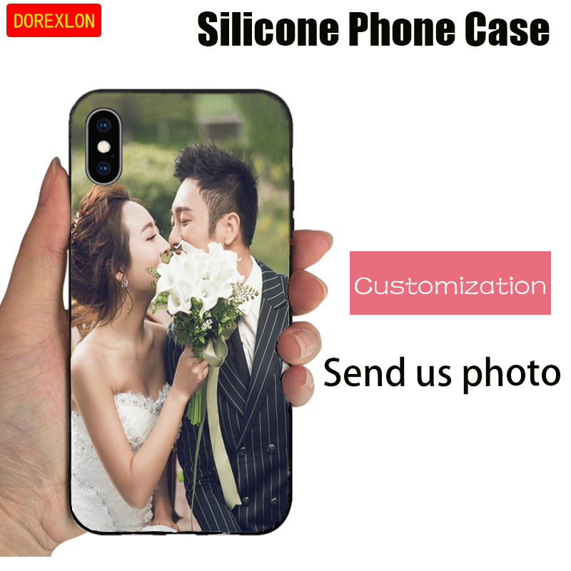 DOREXLON Custom Your Own Phone Case For Samsung Galaxy C8 J7 plus A3 2015 TPU Cover Customized Picture Name Photo DIY Cases