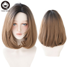 7JHH Blonde Middle Part Synthetic Lolita Wig For Women 2 Ton