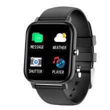 สมาร์ทนาฬิกาผู้ชายบลูทูธสมาร์ทติดตามกิจกรรมกีฬานาฬิกา IP67 Waterproof Call Reminder การตรวจสอบการนอนหลับพยากรณ์อากาศ