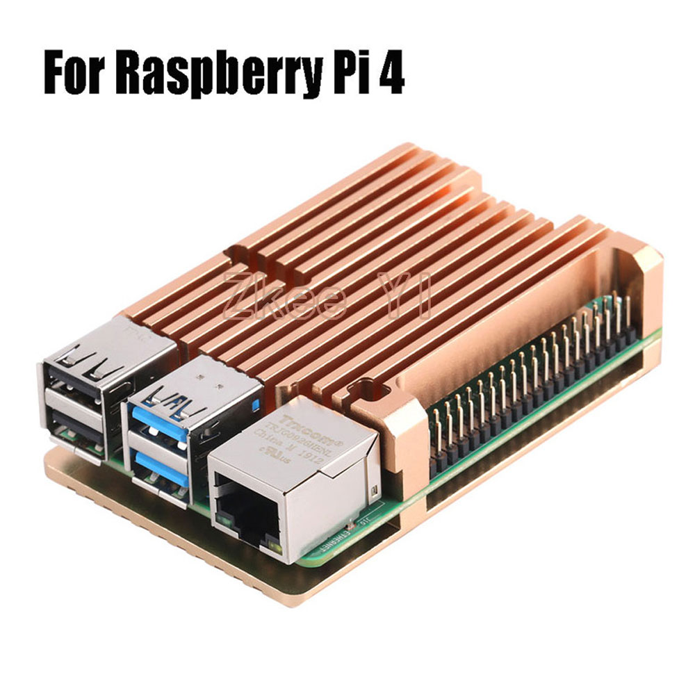 Image 3 - Aluminum Case Alloy Armor with Cooling Heatsink Dual Fan for Raspberry Pi 3/4 Model B,Pi 3 B+,Pi 2 Model B-in Demo Board Accessories from Computer & Office