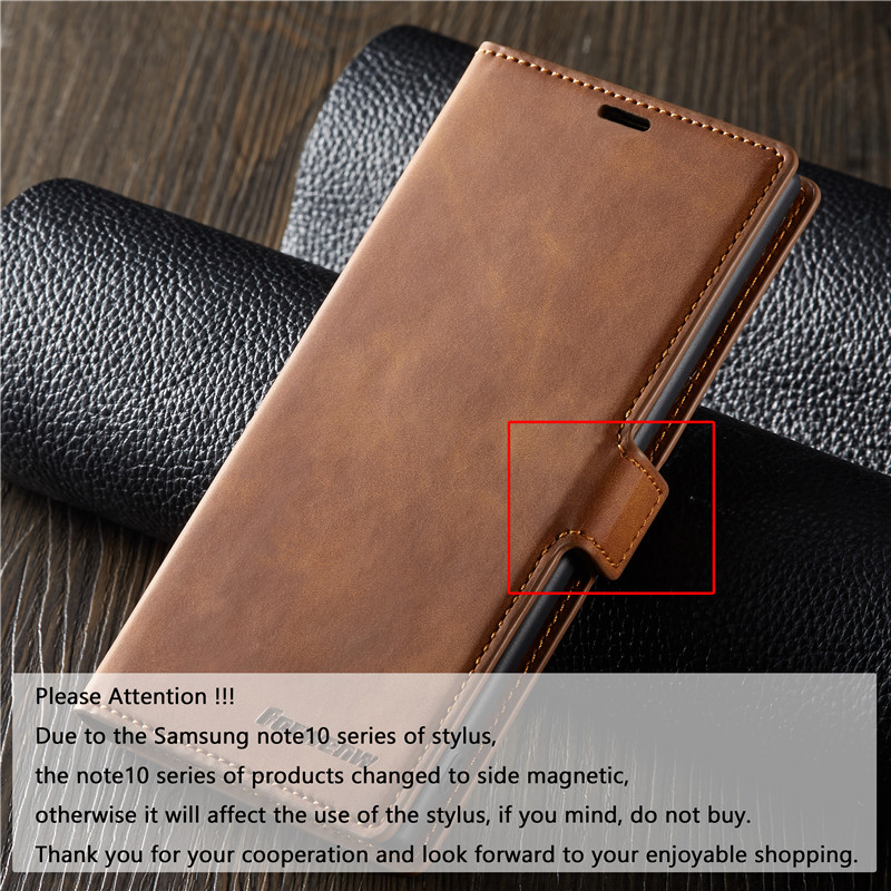 Leather Flip A51 A71 A81 A91 A50 A70 S A40 A20 A10 Case For Samsung S9 S8 S7 Magnet Cover 4