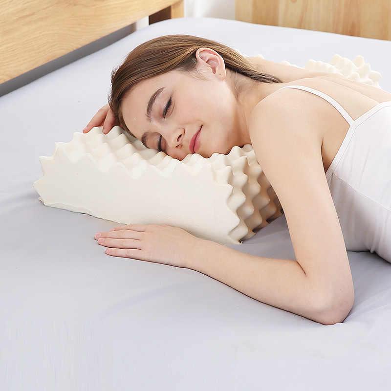 NOYOKE cama ortopédica almohada de masaje Cervical Látex Natural de liberación de presión almohadas para sala de estar