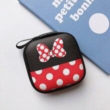 Disney Микки мультфильм портмоне Минни мальчик девочка Монета Сумка сумка для хранения гарнитуры зарядное устройство для хранения кабелей коробка сцепления