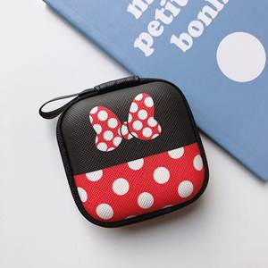 Disney Purse Handbag Charger Headset Storage-Box Coin-Bag Clutch Data-Cable Girl Mickey