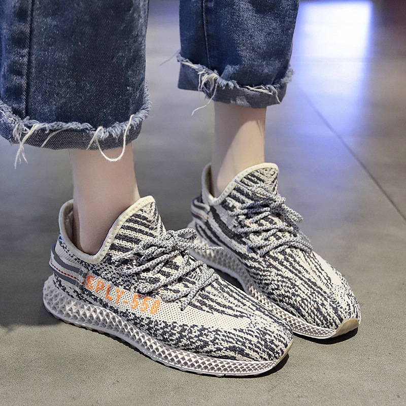 Spring Breathable Women Shoes 2020 Mesh Air Light Casual Sports Shoes Lace Up Letters Woman Sneakers Shoe 4h09