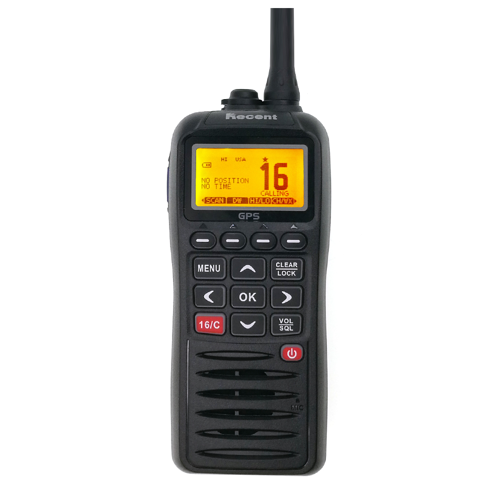 VHF Marine Radio RS-38M IP67 Waterproof Walkie Talkie Float Tri-watch 156.025-157.425MHz Way Radio Transceiver With GPS Function