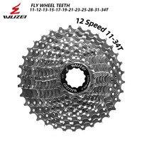 Wuzei 12 velocidade bicicleta de estrada freewheel 12 s 11 34 t cassete roda dentada roda dentada da bicicleta roda roda livre liga de alumínio peças Catraca de bicicleta     -