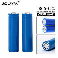 Новинка 2020, литий-ионные аккумуляторы 18650, 18650 в, 3,7 мАч, литиевая аккумуляторная батарея, литий-ионная батарея 2000 в, 3,7 мАч