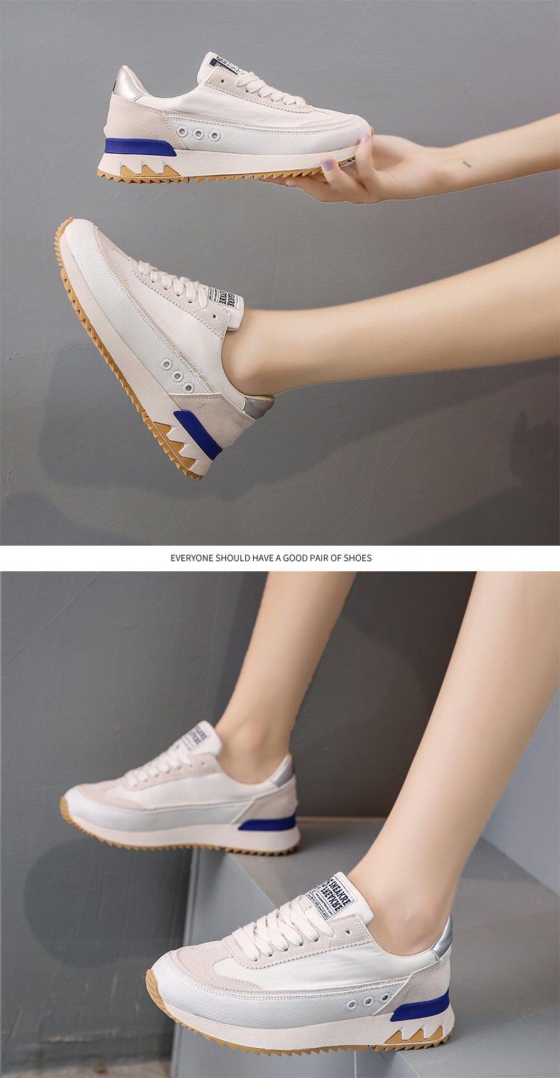 2021 primavera moda sapatos femininos rendas até tênis zapatos de mujer
