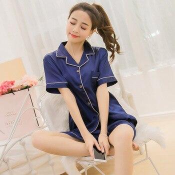 Women Pajamas Set Sleepwear Winter Long Sleeve Mujer Pijamas Nuisette Sexy Lingerie Nightwear Silk Satin Pyjamas pjs Suit 2Pcs 23