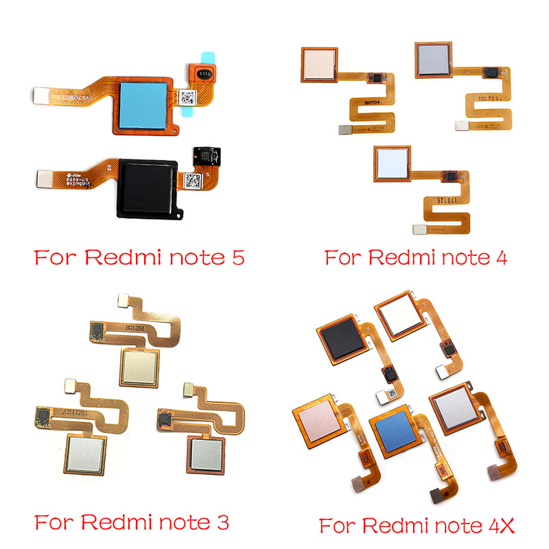 For Xiaomi Redmi Note 4 4X 5 5A 3 Pro Home Finger Reader Fingerprint Reader Sensor Home Button Flex Cable