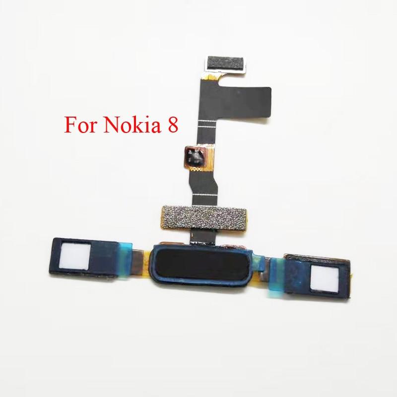 For Nokia 8 Fingerprint Sensor Return Home Button Touch ID Flex Cable Repair Parts