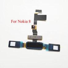 For Nokia 8 Fingerprint Sensor Return Home Button Touch ID Flex Cable
