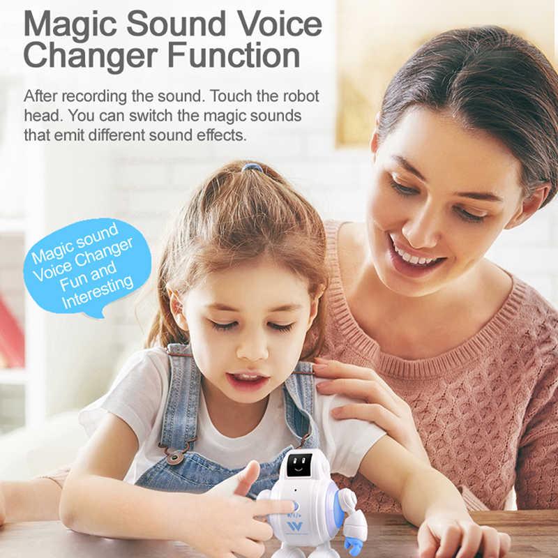 Robot R07 Komik Sihirli Ses Interaktif Oyuncaklar led ışık Akıllı Robot Dokunmatik Algılama Şarkı Duygu Yüz Ifadesi Hediye Çocuklar için