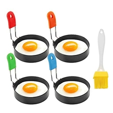 Egg-Ring Griddle Non-Stick Frying-Eggs Silicone-Handle with Cooking-Rings-Set