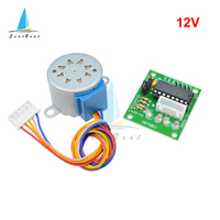 Motor paso a paso de engranaje de cc de 4 fases 28BYJ-48 12V 5V + placa controladora ULN2003 para Kit de Arduino DIY