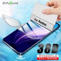 38D Copertura Completa Idrogel Pellicola Per Xiaomi Redmi Nota 8 7 6 5 Pro Protezione Dello Schermo Per Redmi 7 6 k20 K30 Pro 8 6A 7A Non di Vetro