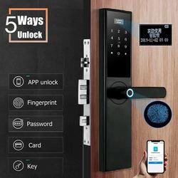 Smart Sicherheit Elektronische Smart Türschloss APP + Passwort + Tastatur + Karte + Fingerprint 5 Möglichkeiten Tür Smart Elektronische schloss Hotels