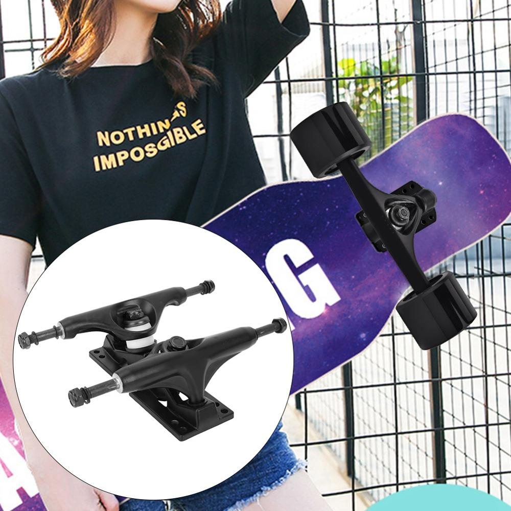 2Pcs 4-8 Inch Aluminum Magnesium Alloy Professional Bridge Skate Board Bracke Black