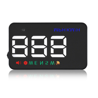 KOLSOL HUD OBD2 head up display car speed projector A5 3.5 inch car electronics with gps speedometer Fatigue Warning