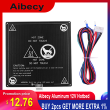 Aibecy Aluminum 12V Hotbed 220*220*3mm Heated Bed with Wire Cable Heatbed Platform Kit for Anet A8 A6 3D Printer Parts цена 2017