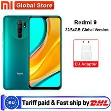 Versão global redmi 9 3gb 32gb/4gb 64gb smartphone octa-core mídia tek helio g80 13mp câmera traseira 5020mah tipo-c 6.53