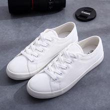 Кеды мужские повседневные модные холщовые кроссовки черные белые