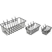 Wrought iron tool storage basket family metal basket,Pegboard Basket Set of 3