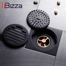 Odpływy prysznicowe kwadratowy sitko do kąpieli włosy antyczny mosiądz czarna podłoga w łazience odpływ siatka odpady ruszt pralka pokrywa odpływu