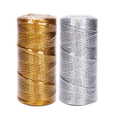 1.5mm 100M Macrame Cord Rope Ribbon Crafts DIY Gold Silver Rope String for Sewing Twine Twisted Thread Home Textile Decoration